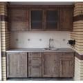 Кухня из массива сосны под старину
