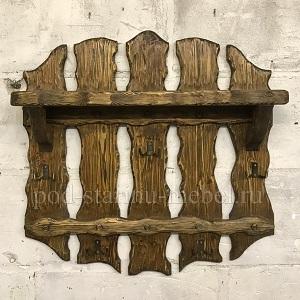 Вешалка из массива дерева под старину