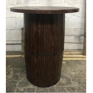 стол-бочка из массива сосны под старину