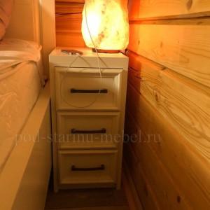 Тумба прикроватная в стиле прованс из массива сосны