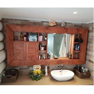 Шкафчик для ванной из массива сосны в стиле лофт