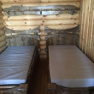 Комплект мебели для гостиницы одноместная кровать и полка