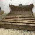Кровать из массива сосны под старину с ящиками