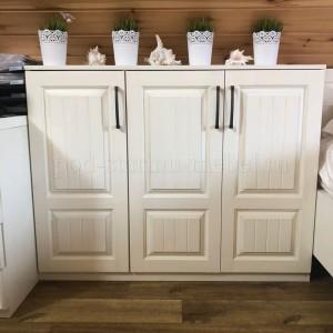 шкаф книжный в стиле прованс из массива сосны