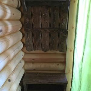 Комплект мебели в прихожую из массива сосны под старину