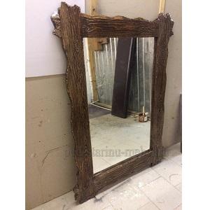 зеркало большое из массива сосны под старину