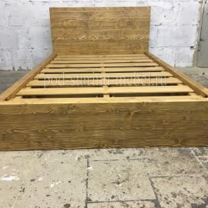 Кровать в стиле лофт из массива сосны с ящиками