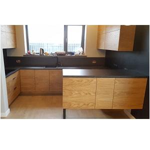 кухня Детройт в стиле лофт из массива сосны и МДФ
