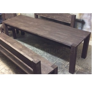 стол из массива сосны в стиле лофт