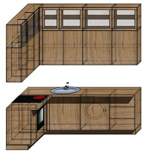 Кухня Лофт проект