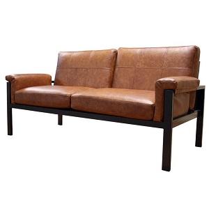 диван в стиле лофт Симпл из металла и экокожи
